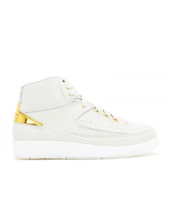 66101d0ce30c46 ... 104-Urban Necessities  50% price ebc6e 3a52a Air Jordan 2 Retro Q54  Quai 54 Light Bone Metallic Gold ...