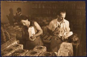 His sons Mario  and  Aldo worked on the expansion of a small workshop, which had already become a real little figurine factory in 1936. The Fontanini family soon started to export the nativities scenes, Mario's speciality, and the papier mache figurines into the USA. @Debbie Williams