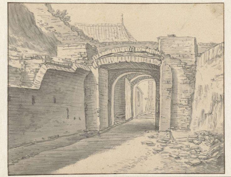 Herman Saftleven   Doorgang onder stadswal van Utrecht, Herman Saftleven, 1619 - 1666  