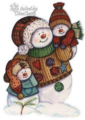 hombres nieve