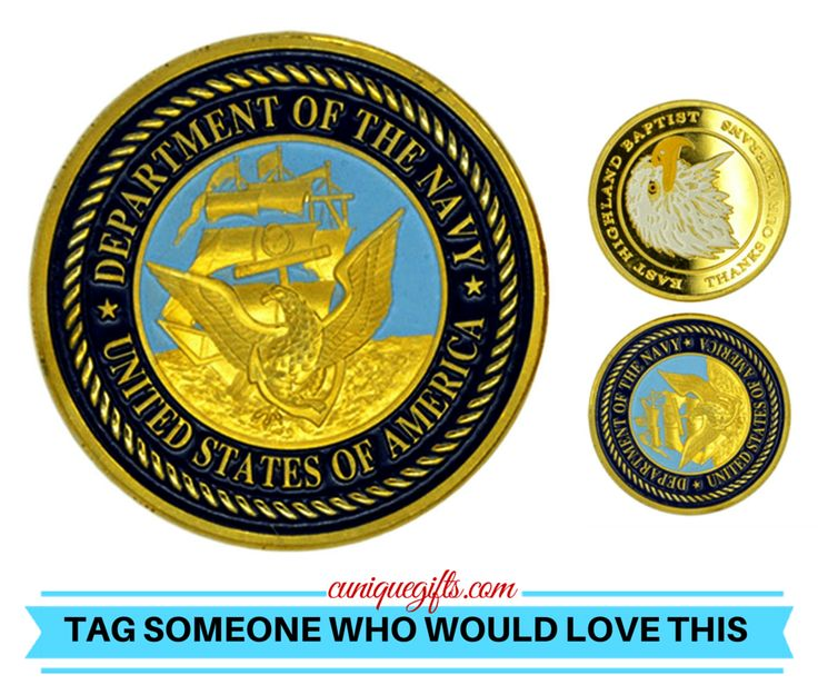 Department of the Navy Military Challenge Coin Made of Zinc Alloy, this challenge coin bears the insignia of the Department of the United States Navy. This coin is perfect for any sailor or civilian m