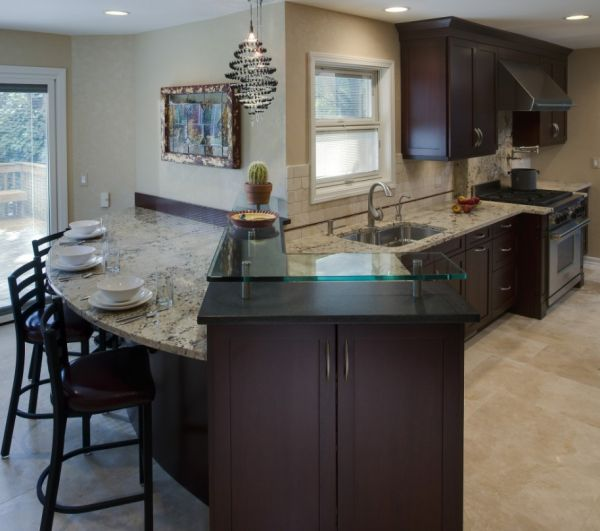 Corner Kitchen With Island: 42 Best Images About Curved Designs On Pinterest