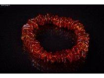 kolok.ro-Brățară din chihlimbar coniac cu mărgele plate și neregulate-KDX015-20  Chihlimbarul, cunoscut și sub numele de ambra, este o piatră naturală semiprețioasă de natură organică - la fel ca perla, coralul și jaisul – a cârei frumusețe și calităti în vindecare, purificare și potențare a stării emoționale au fost recunoscute și folosite înca din timpurile foarte vechi.