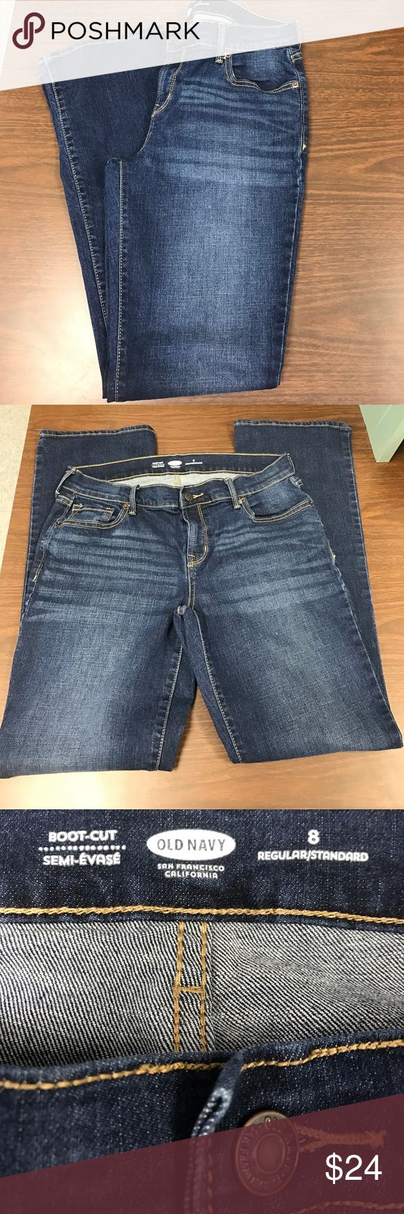 Old Navy Boot Cut Jeans Old Navy bot cut jeans size 8. These jeans may have been worn twice. Practically new and in excellent condition. Old Navy Jeans Boot Cut