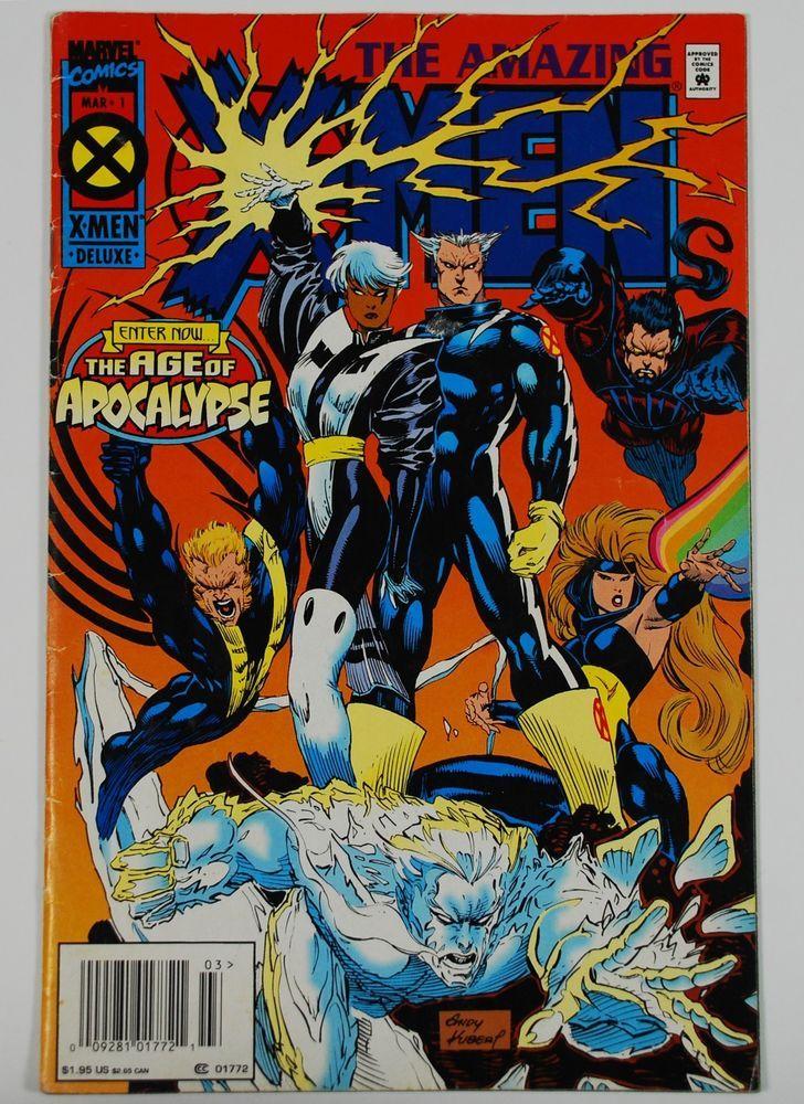 The Amazing X Men 1 Marvel 1995 The Age Of Apocalypse Comic Book Bag Board Marvel Comics Covers Comics X Men