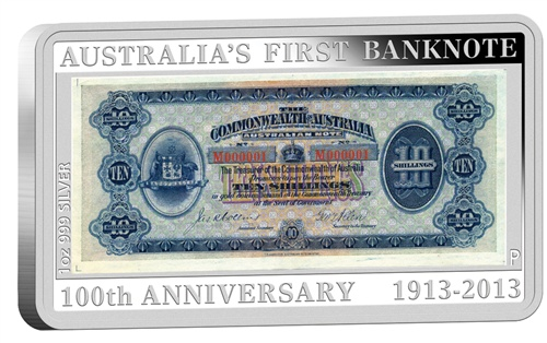 2013 $1 100th Anniversary Of Australia's First #Banknote 1oz #Silver Proof