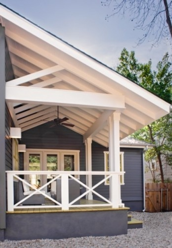 Porch Railings Exposed Trusses And Railings On Pinterest