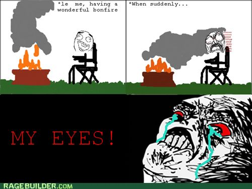 Funny Camping Memes | Rage Comics: For That Authentic Smoky Flavor!