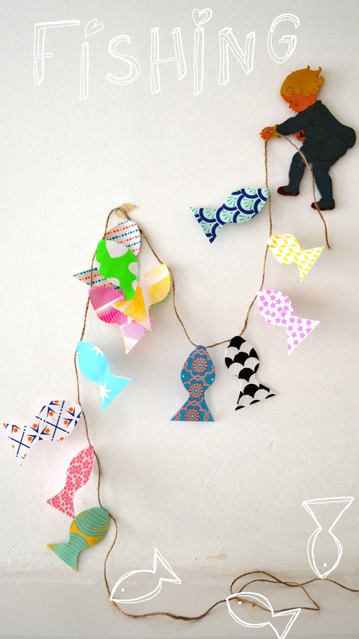 "Foto ""pinnata"" dalla nostra lettrice Francesca Mereu paper fish (how to on my blog) http://www.ing-things.blogspot.it/"