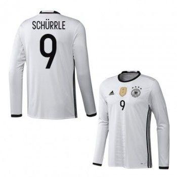 Tyskland 2016 Schurrle 9 Hemmatröja Långärmad   #Billiga  #fotbollströjor