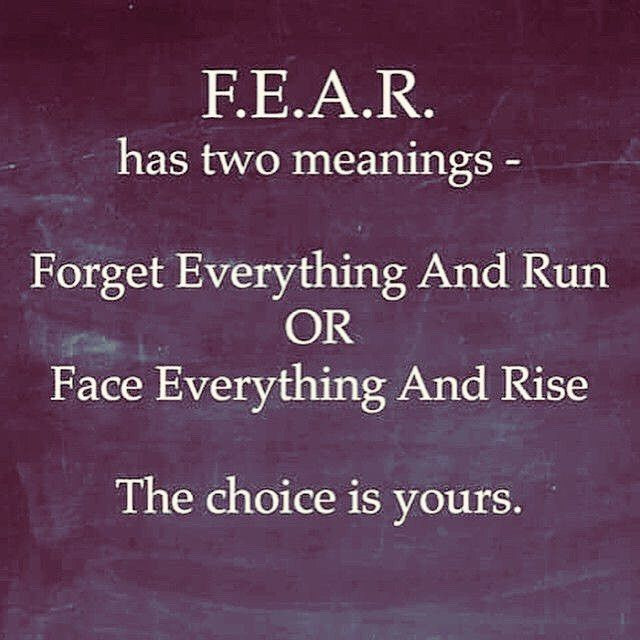 Fear has two meanings - Forget Everything And Run or Face Everything And Rise. The choice is yours. #quote #quotesforlife #quoteoftheday #fearquotes #lifegoals #lifeqoutes #lifequotes4u #fearnoone #fearlessphoto #momsinspired http://quotags.net/ipost/1488644779017155472/?code=BSouooSDrOQ