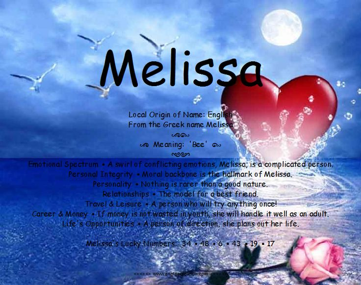 Melissa name meaning and personality