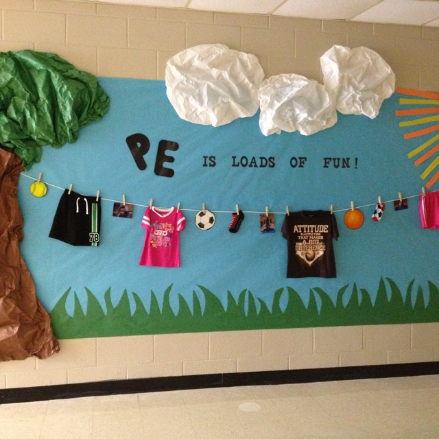Melissa's PE bulletin board for school!