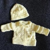 Little V Baby Cardigan and Hat  - via @Craftsy