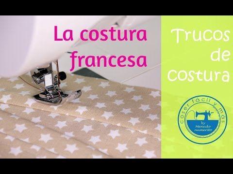Cómo hacer una costura francesa paso a paso, muy fácil - YouTube
