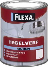 Flexa Tegelverf is te gebruiken op alle soorten muurtegels binnen. Ook in badkamer en keuken geschikt.