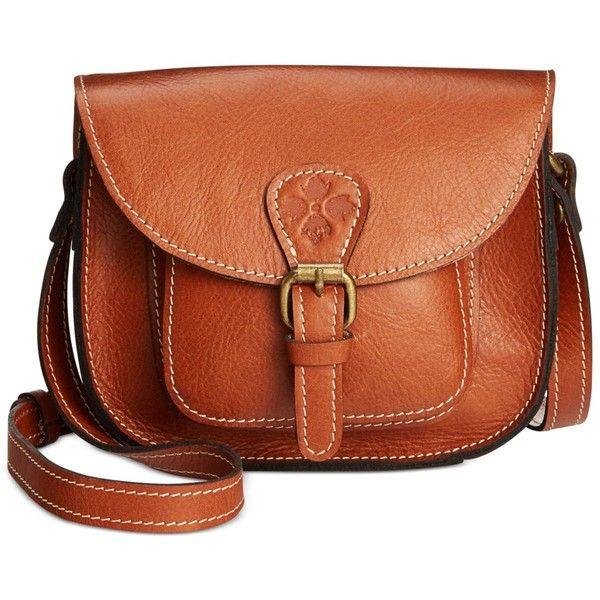 Patricia Nash Argos Crossbody ($129) ❤ liked on Polyvore featuring bags, handbags, shoulder bags, veg tan, tan crossbody purse, brown cross body purse, tan handbags, crossbody shoulder bags and tan purse