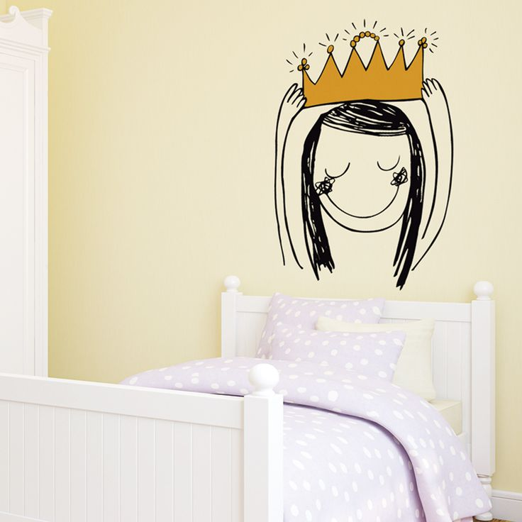 Princesa corona vinilo infantil Chispum