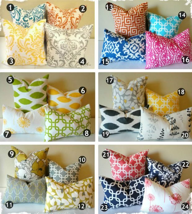 $11.95 They're Back! Designer Pillow Covers - 24 Prints in Your Choice of 2 Sizes! at VeryJane.com