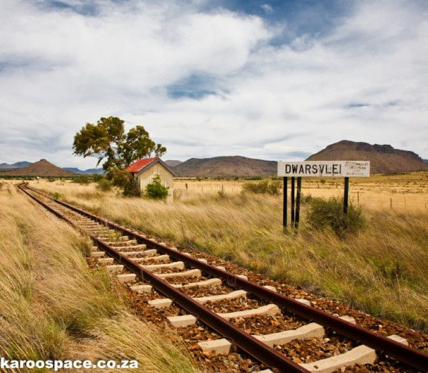 Railroad through the Karoo landscape