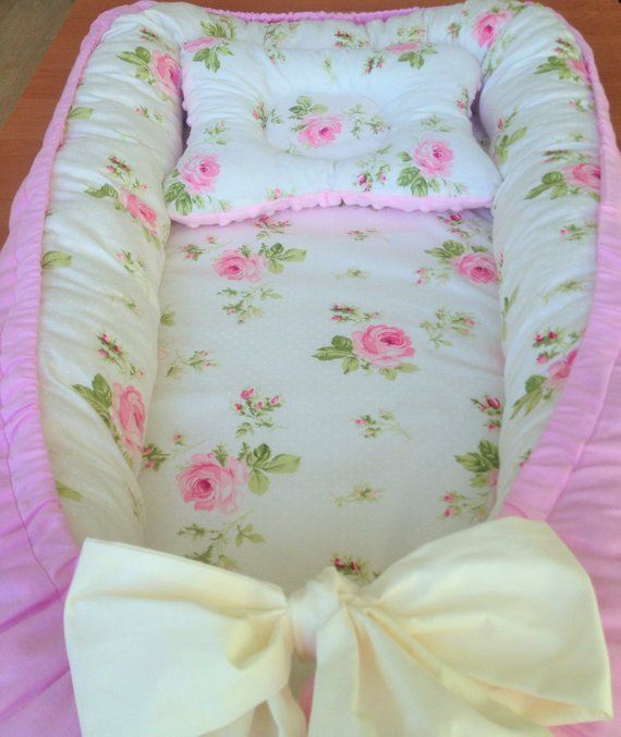 Baby nest toddler size rose baby pillow crib bedding ...