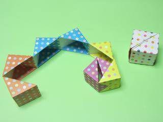 折り紙のクルクルボックス - おもちゃおじさん …
