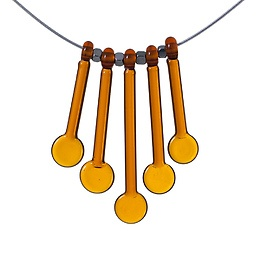 Beautiful glass necklace and I love the amber color. FormFire Glassworks / Home