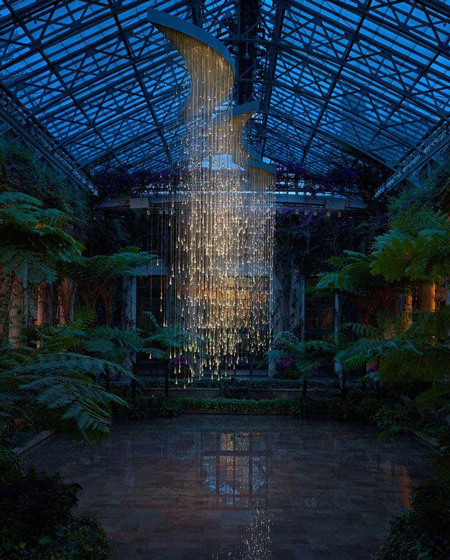 Light, Installations by Bruce Munro at Longwood GardensArtists, Hanging Lights, Bruce Munro, Lights Art, Trav'Lin Lights, Lights Installations, Art Installations, Longwood Gardens, Design