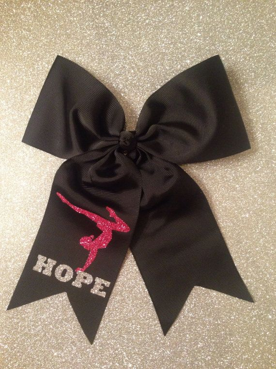 Gymnastics hair bow  Hair bow gymnastics  custom by LuckyCutVinyl