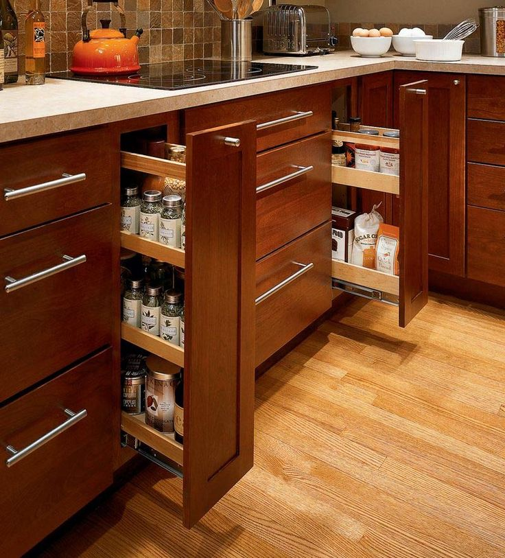 Base pantry pull out kitchens light timeless for Kitchen design 6 x 8