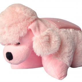 Cane rosa proietta stelle con musica (PA01)