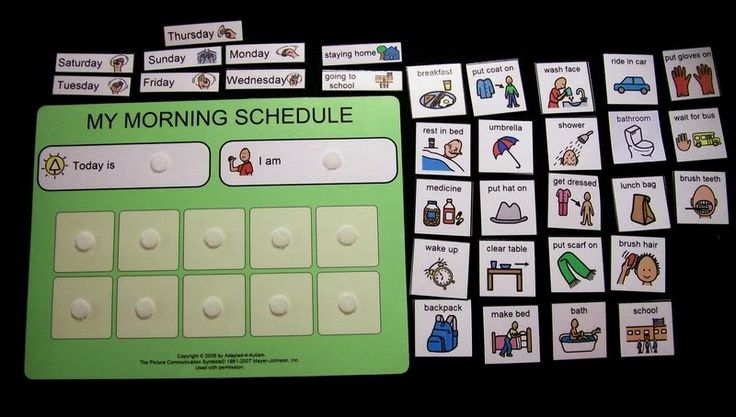 Visual Schedules in the Classroom | School Day Schedule Classroom Pecs Autism Transitions | eBay