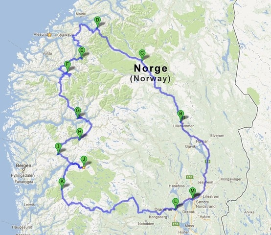 around Norway, July 2009