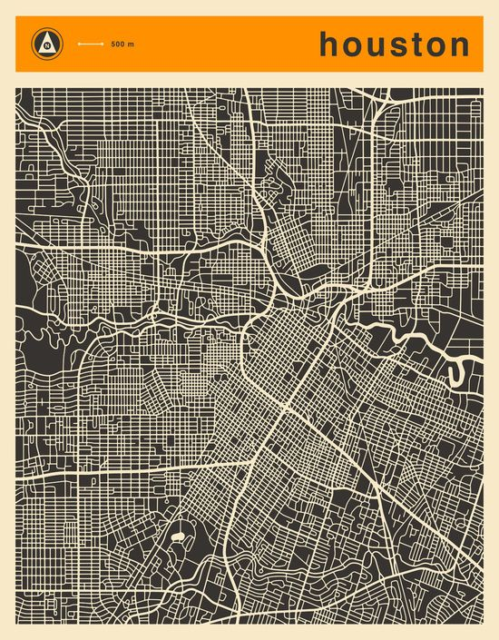 HOUSTON MAP Canvas Print by Jazzberry Blue | Society6