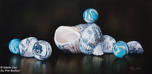 Mickie Acierno, 'Stepping Stones', 12'' x 24'' | Galerie d'art - Au P'tit Bonheur - Art Gallery