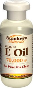 Pure Vitamin E-Oil 70,000 IU : Sundown Naturals - Where Being Healthy Comes Naturally