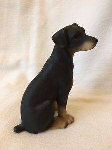 Doberman Pinscher Puppy Hand Painted Figurine Ornament By Harvey Knox   | eBay