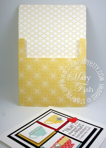 Stampin up demonstrator attic boutique designer series paper 4 x 4 envelope video tutorial