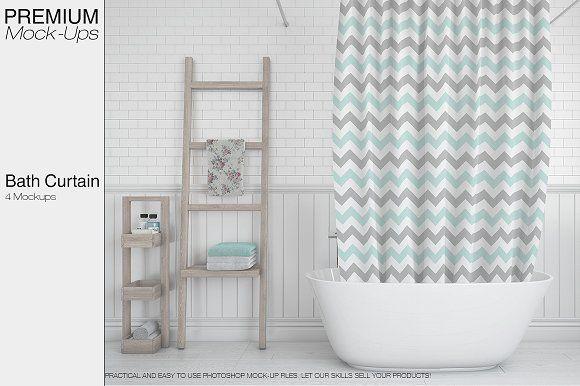 Bath Curtain Mockup Pack Mockup Free Psd Psd Mockup Template Mockup Design