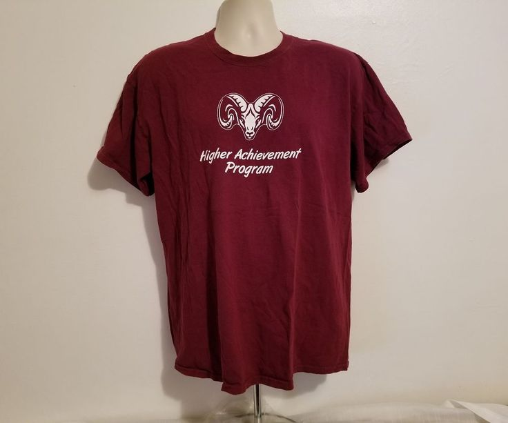 Fordham Prep Rams Higher Achievement Program Adult Large Burgundy T-Shirt #Gildan #FordhamRams