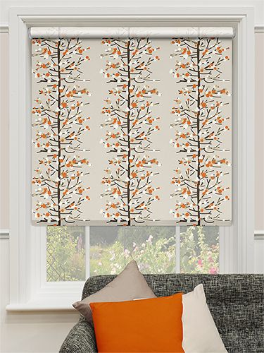 Choices Berry Blossom Orange Roller Blind from Blinds 2go