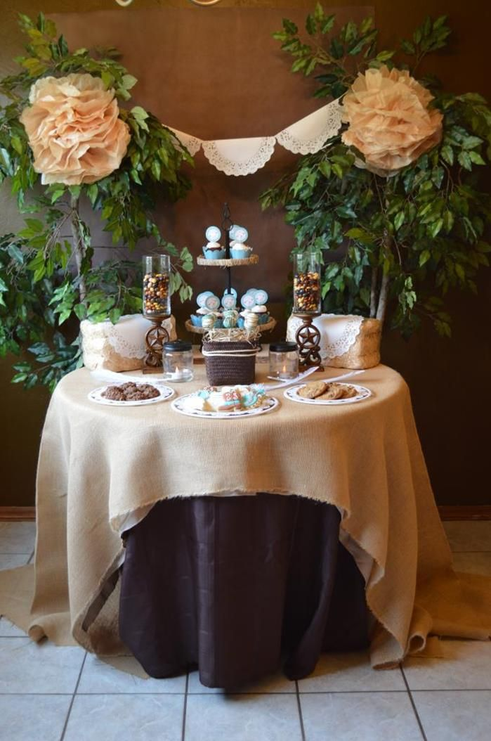 Shabby Chic Western Wedding Shower