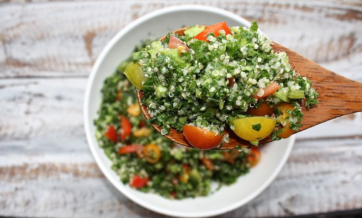 Kale, Tomato & Quinoa Salad with Lemon Dressing - For A Digestive Peace of Mind—Kate Scarlata RDN