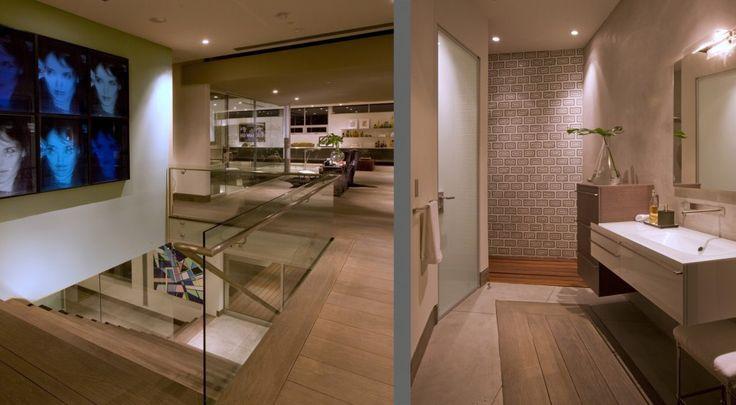 The whole house has an open floor plan.  (McClean Design)