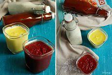 Американская классика: Соусы ранч, сырный, барбекю и кетчуп.