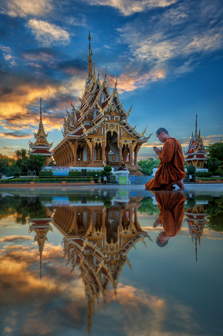Wat PA saeng Arun temple of Khon Kaen In the twilight by Extra suriyachat on 500px