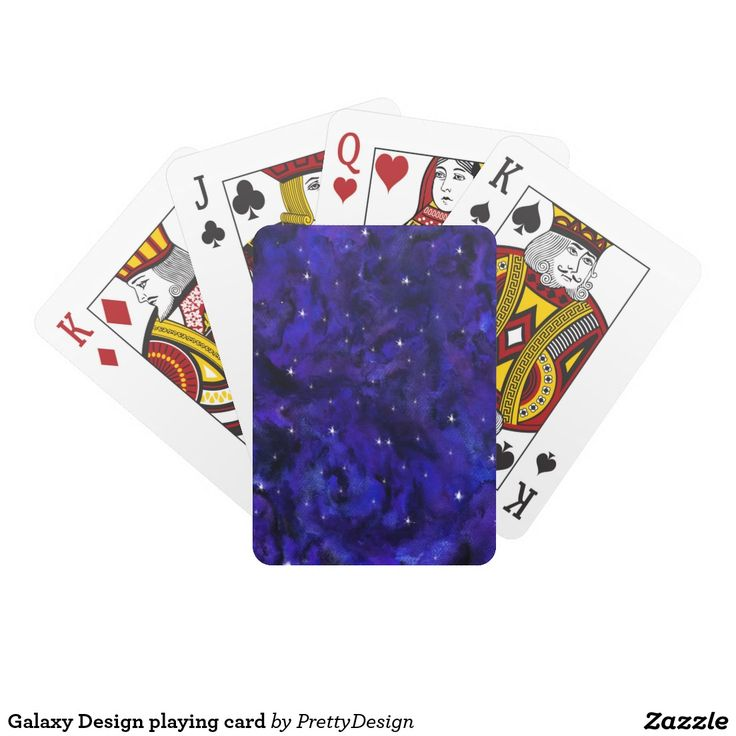 Galaxy Design playing card