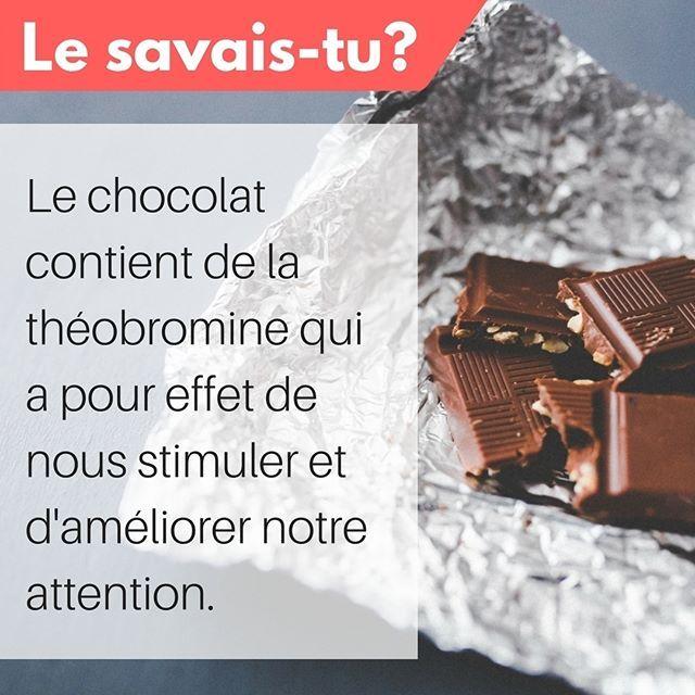 Voilà une bonne raison de se permettre un ou deux carrés de chocolat noir de temps en temps! #doubletavaleur #doubletavaleur.com #blogue #blog #productivité #efficacité #gtd #getthingsdone #travail #emploi #entrepreneur #intrapreneur #entrepreneuriat #intrapreneuriat #qc #québec #chocolat #alimentation