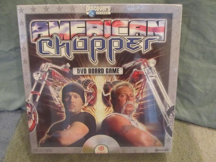 AMERICAN CHOPPER BOARD GAME WITH DVD FROM DISCOVERY CHANNEL