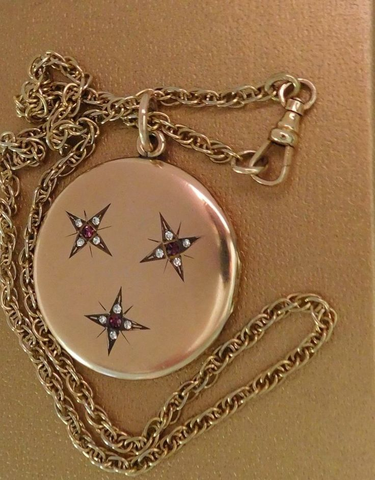 ANTIQUE C 1900 EXTRA LARGE VICTORIAN JEWELLED LOCKET ROSE GOLD F VINTAGE HEAVY